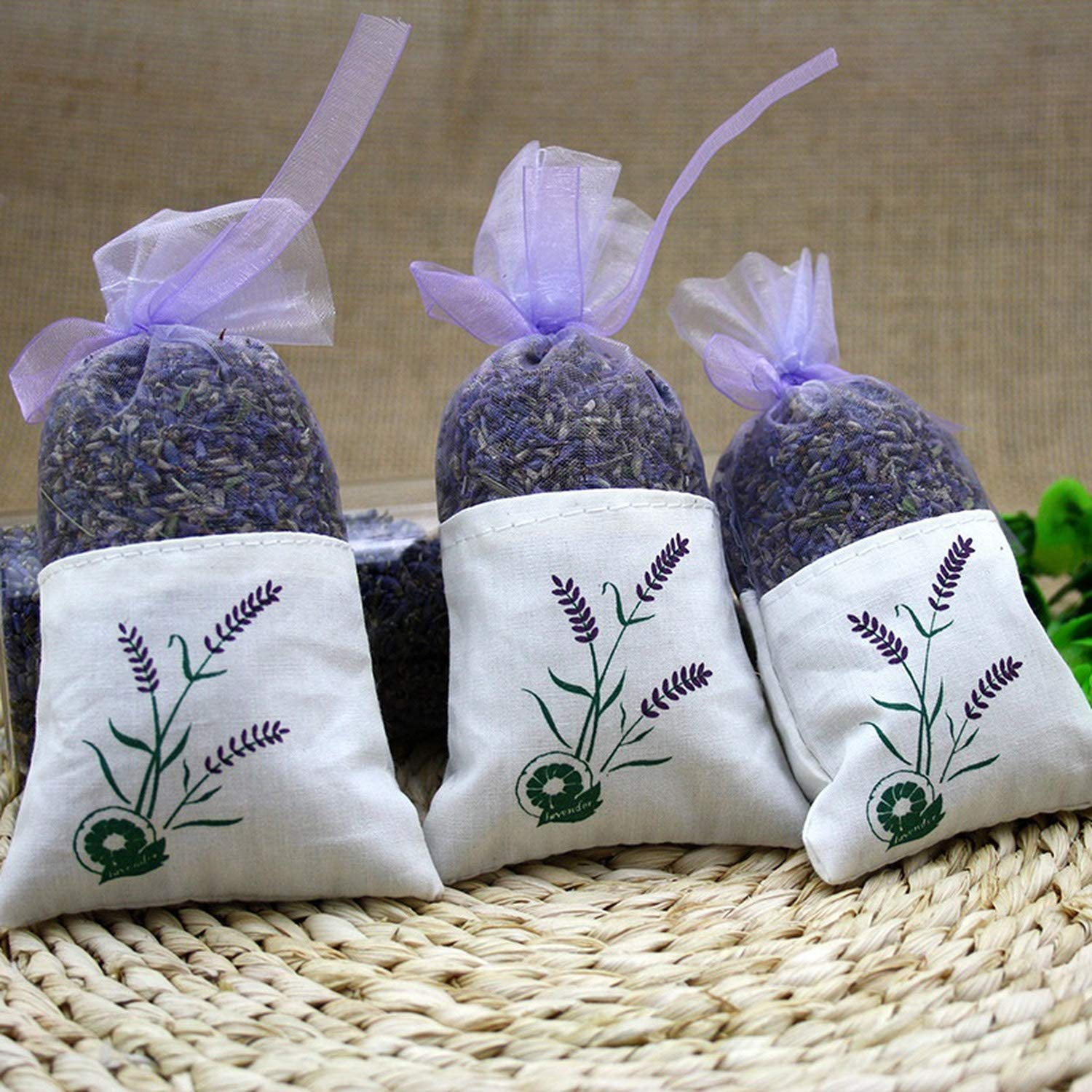 yuexianghui Natural Dried Flowers Lavender Bud Sachet Decorative Flower Aromatic Air Fresh Living Room Drawer,6 Pcs by yuexianghui (Image #6)