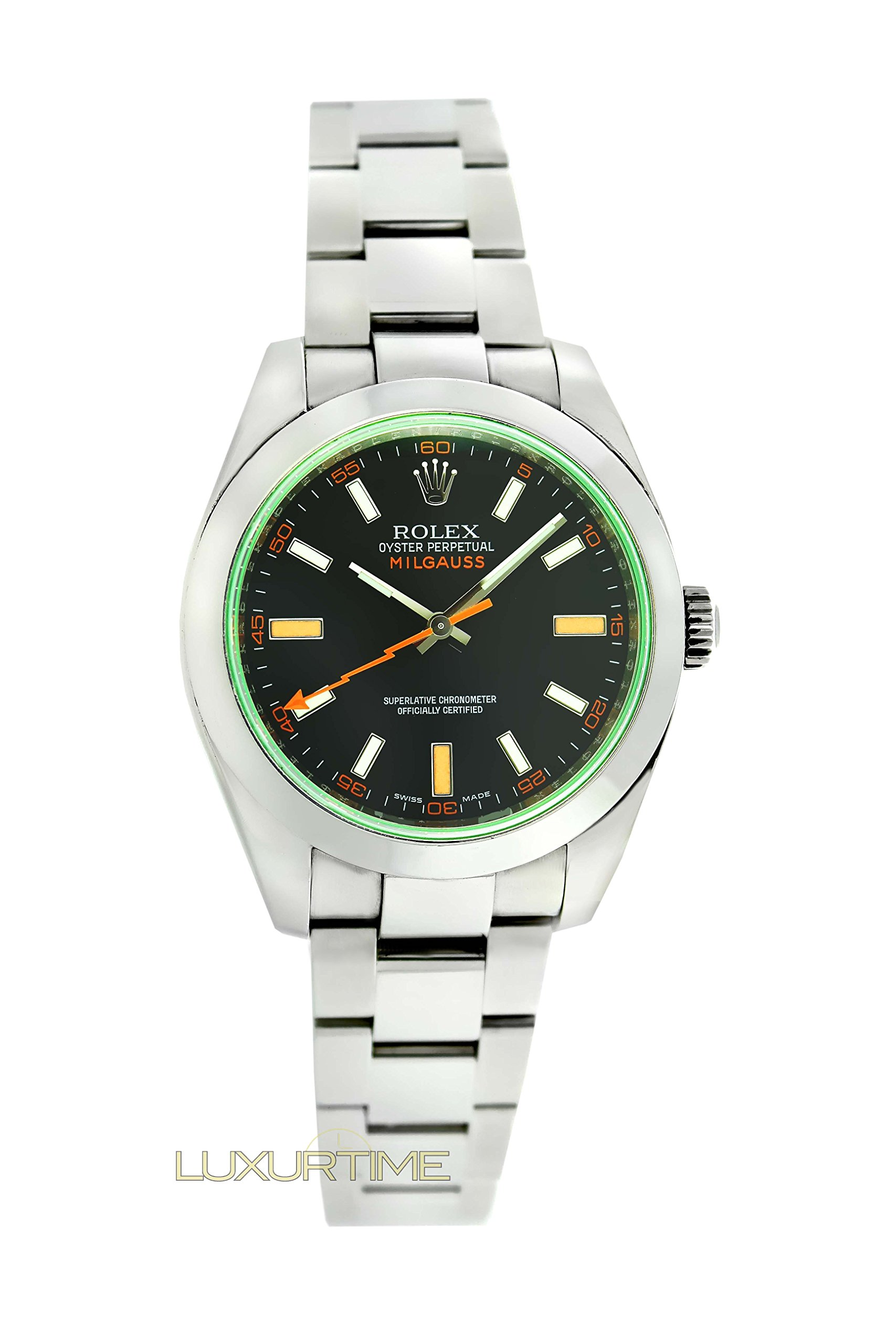 Rolex Milgauss swiss-automatic black mens Watch 116400V (Certified Pre-owned)