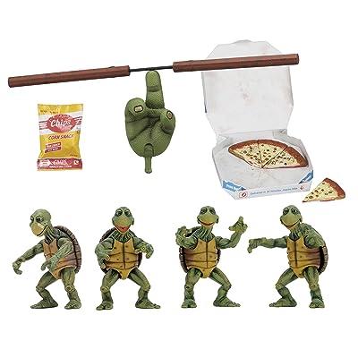 NECA - Teenage Mutant Ninja Turtles (1990 Movie) - 1/4 Scale Action Figures - Baby Turtles Set: Toys & Games