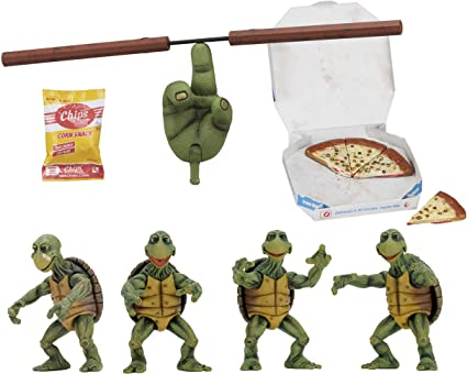 NECA - Teenage Mutant Ninja Turtles (1990 Movie) - 1/4 Scale Action Figures - Baby Turtles Set