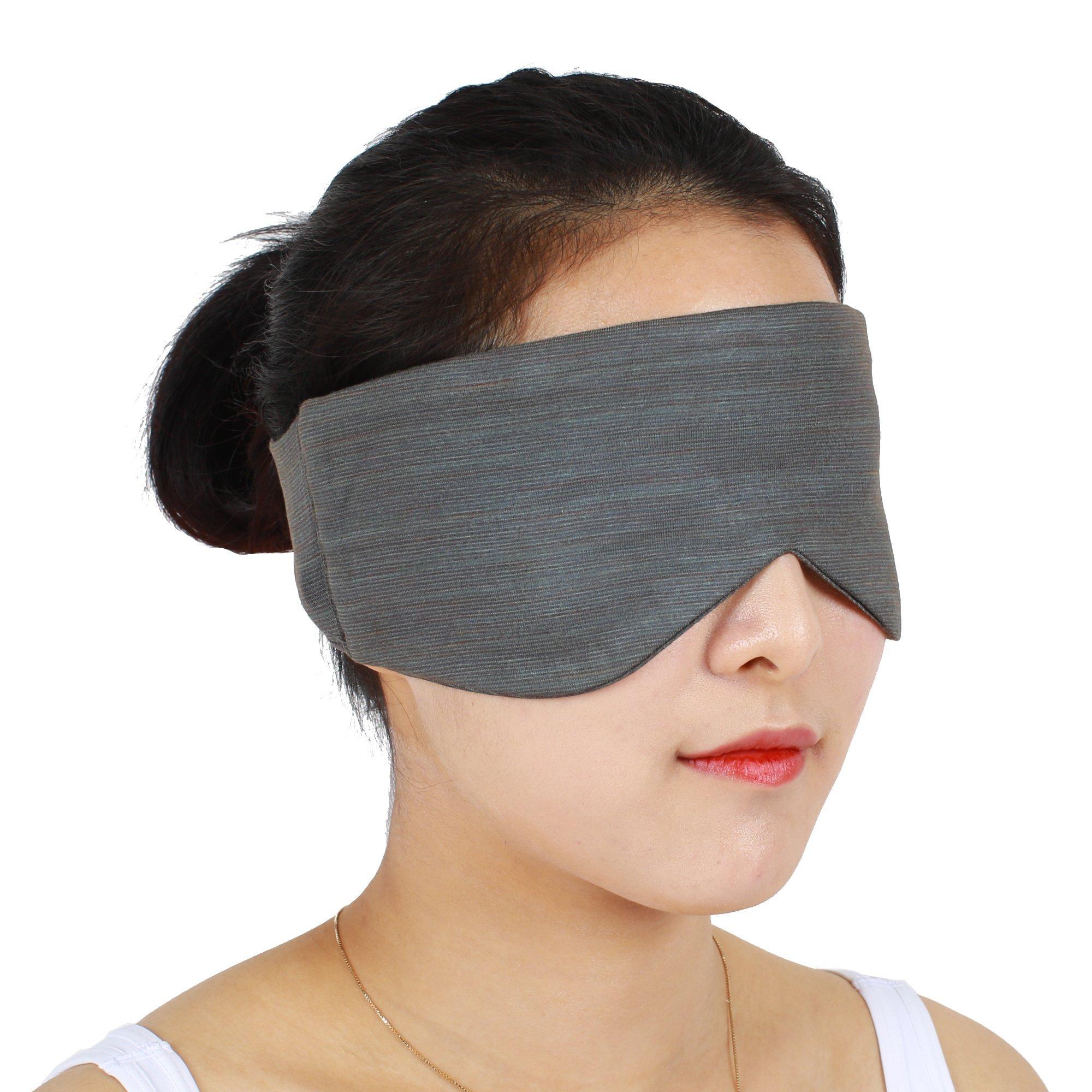 TEMPUP Eye Band Sleep Mask, Self Recovery Wear, Headache Helper, Helps Full Night's Sleep - for Unisex Medium 1P