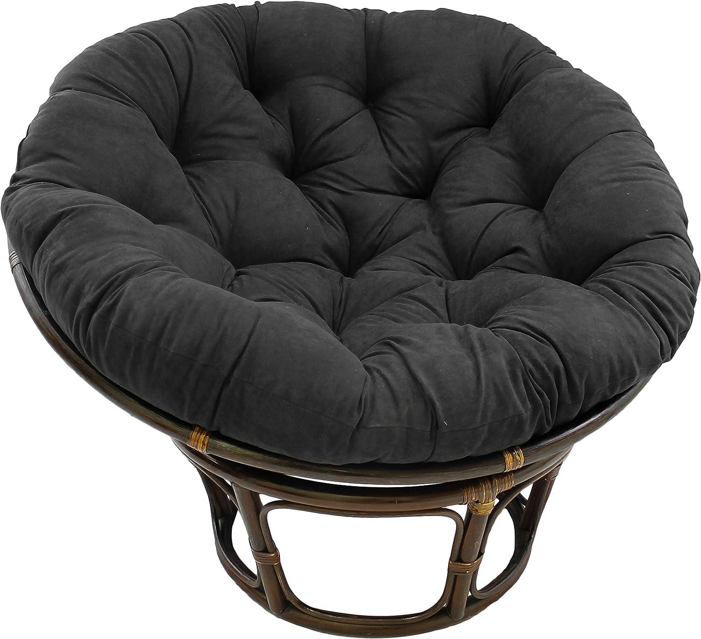 44 x 6 x 44 Blazing Needles Solid Microsuede Papasan Chair Cushion Camel