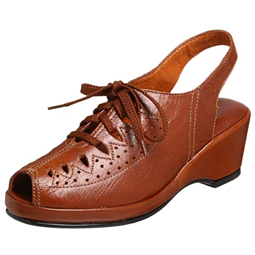 effbda178308e Amazon.com | Re-Mix Vintage Women's Greta Lace-Up Wedge, Antique ...