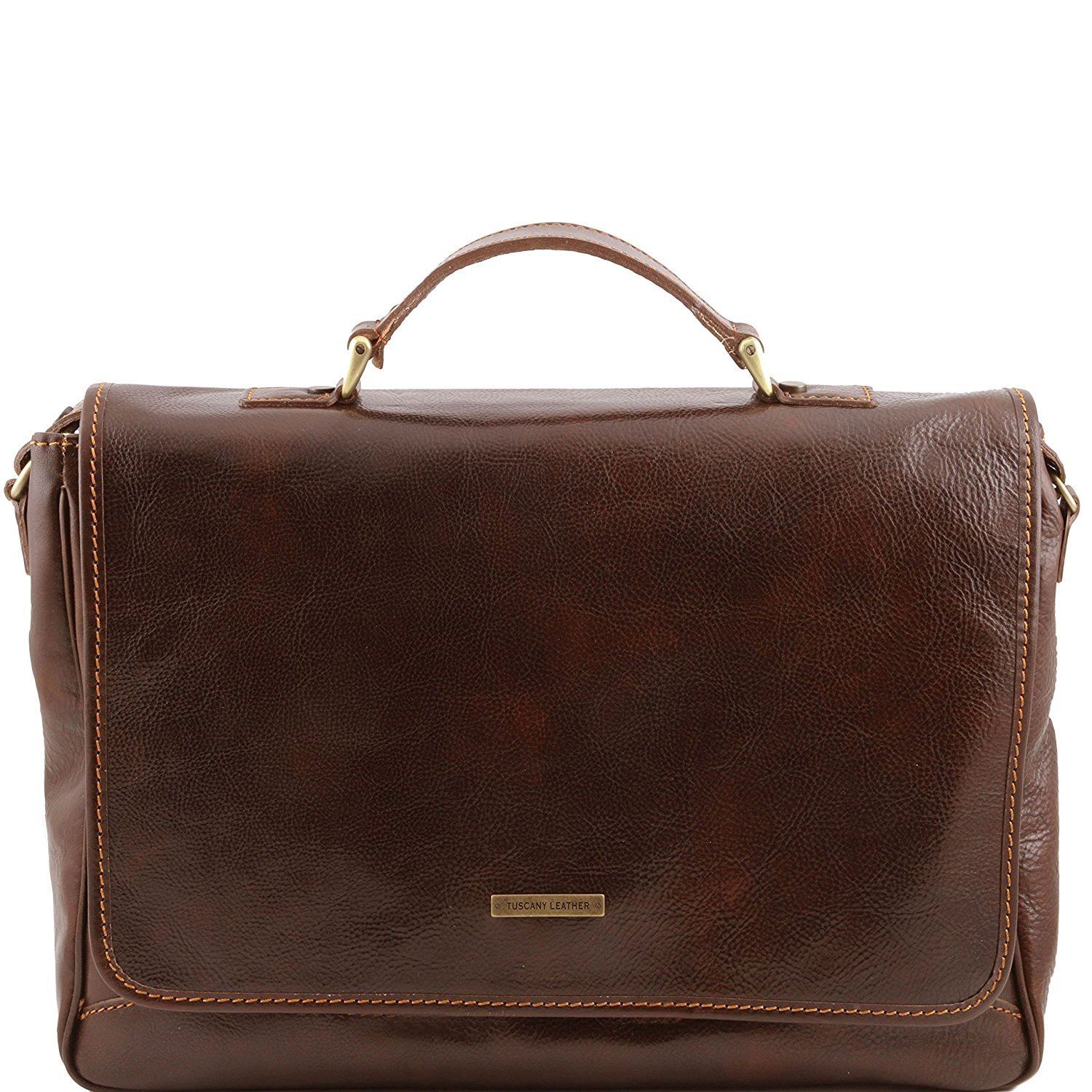 Tuscany Leather - Padova - Exclusive leather laptop case Dark Brown - TL140891/5 by Tuscany Leather