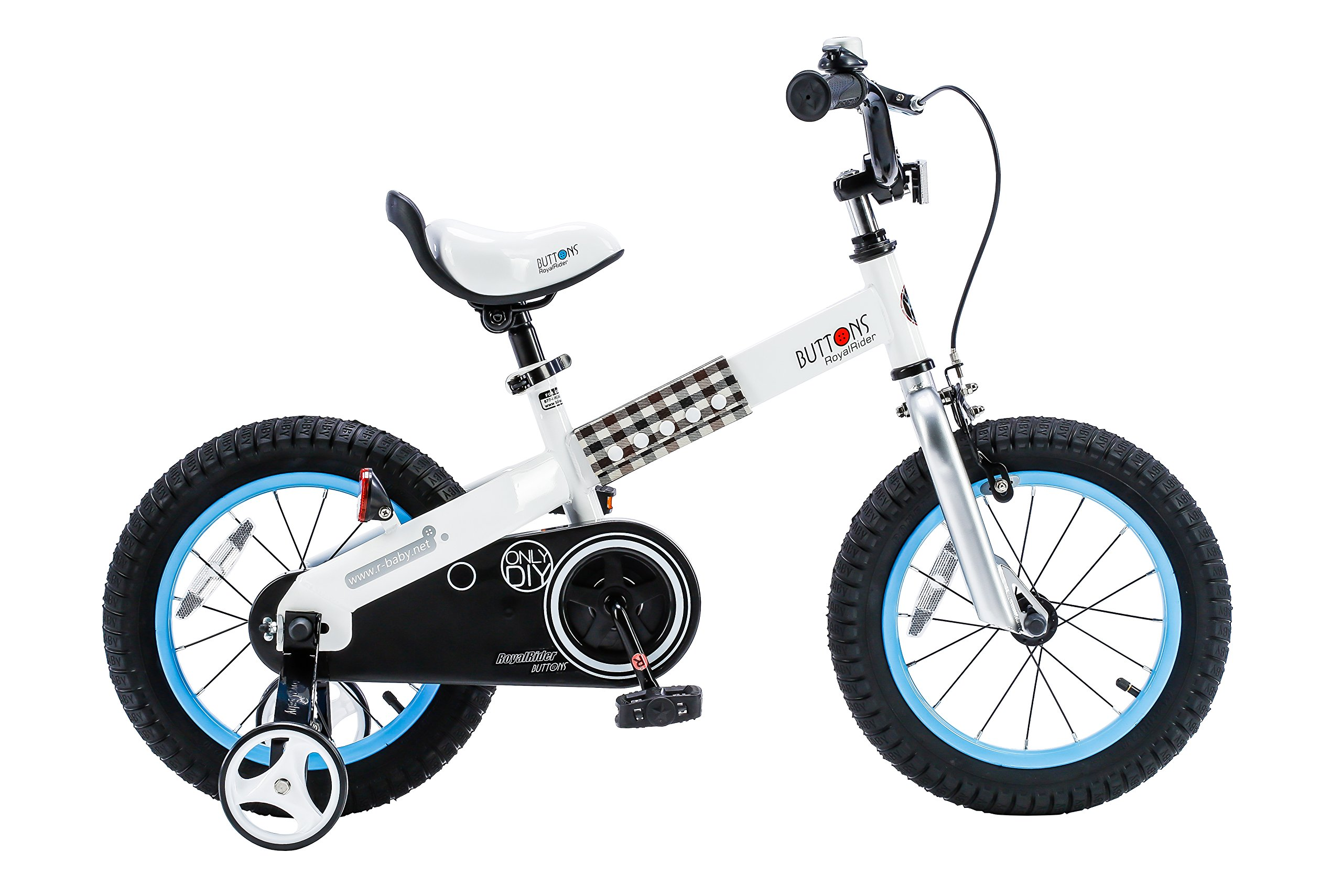 RoyalBaby CubeTube Buttons 16''  Bicycle for Kids, Blue