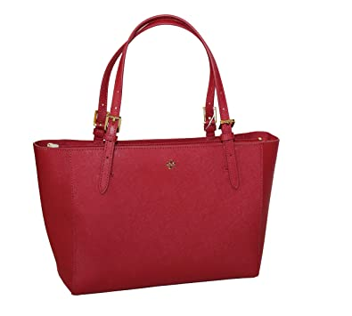 642449e11e16 Image Unavailable. Image not available for. Color  Tory Burch Emerson Small  Buckle Tote ...