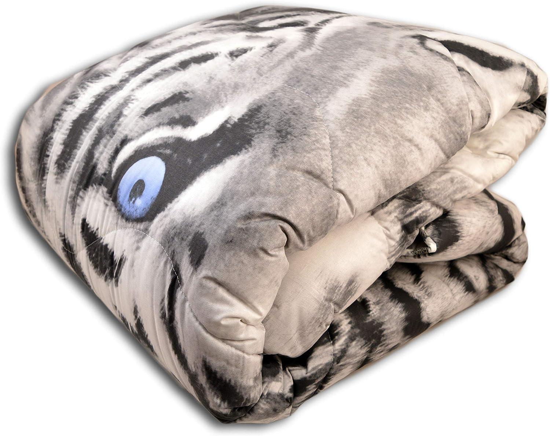 Centesimo Web Shop Trapunta Piumone Matrimoniale Italia Invernale Pesante Calda Tigre Grigia Grigio Tiger Animali Tigrotto
