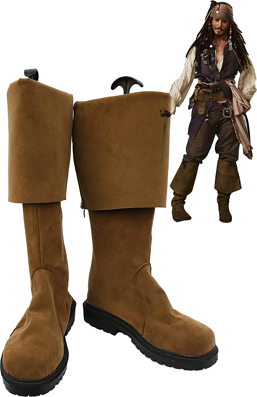 New! Pirates of the Caribbean Jack Sparrow Cosplay Boots Shoes Halloween