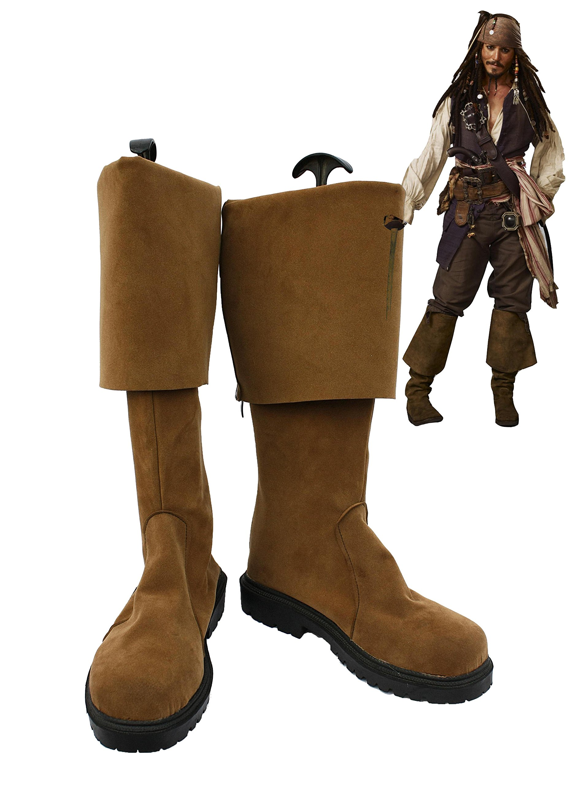 Pirates of the Caribbean Jack Sparrow Cosplay Shoes Boots Custom Made