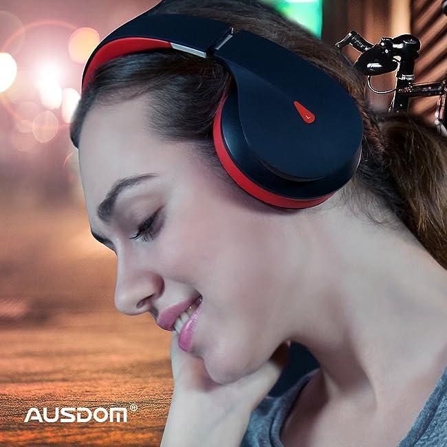 AUSDOM Wireless Bluetooth Headphones, On Ear Stereo Bass Over Ear Bluetooth Headsets