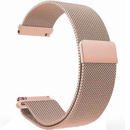 Ecsem 22 mm fuerte hierro/Premium acero inoxidable reloj ...