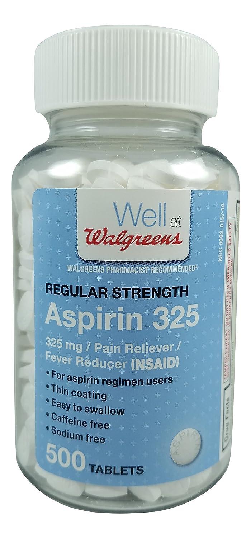 amazon com walgreens aspirin pain relief fever reducer coated