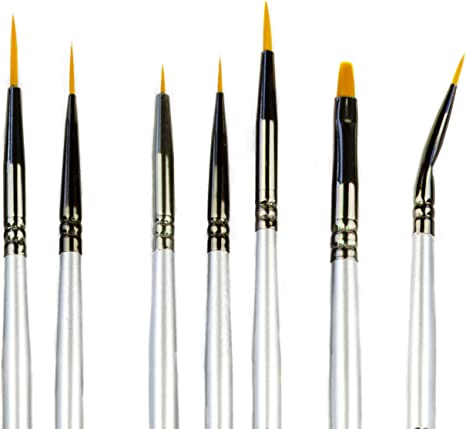 3 Sizes Round Pointed Tip Brush for Nail Art Face Painting Ceramic Figurines