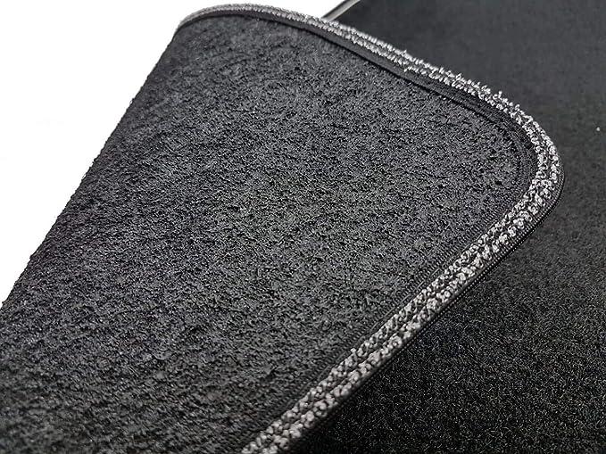 prot/ège-talon renforc/é en caoutchouc bord bicolore Il Tappeto Auto SPRINT03707 Tapis antid/érapants en moquette noire