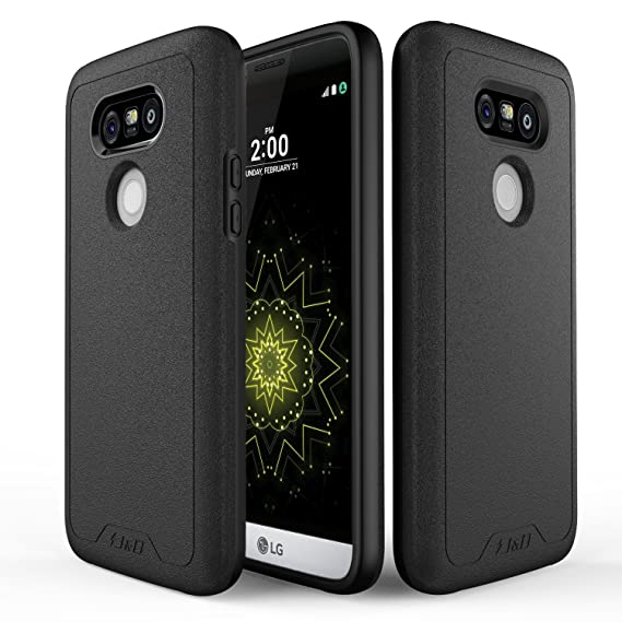 100% authentic 52009 9d95b J&D Case Compatible for LG G5 Case, [Slim Guard] [Heavy Duty] [Dual Layer]  Hybrid Shock Proof Fully Protective Case for LG G5 - Black