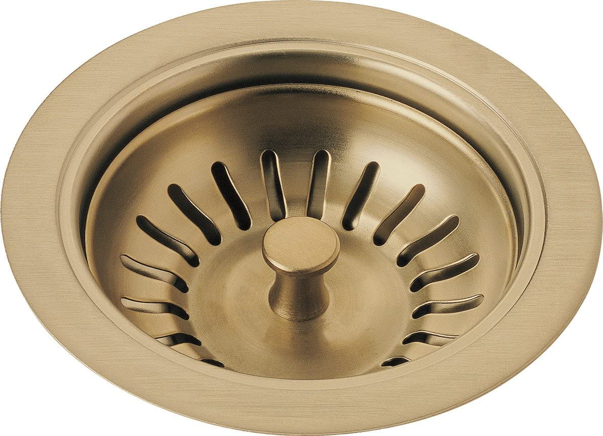 Delta Faucet 72010-CZ Flange and Strainer, Kitchen Sink, Champagne Bronze