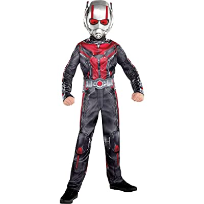 Costumes USA Ant-Man and the Wasp Ant-Man Costume for Boys, Includes a Black and Red Jumpsuit and a Mask: Clothing