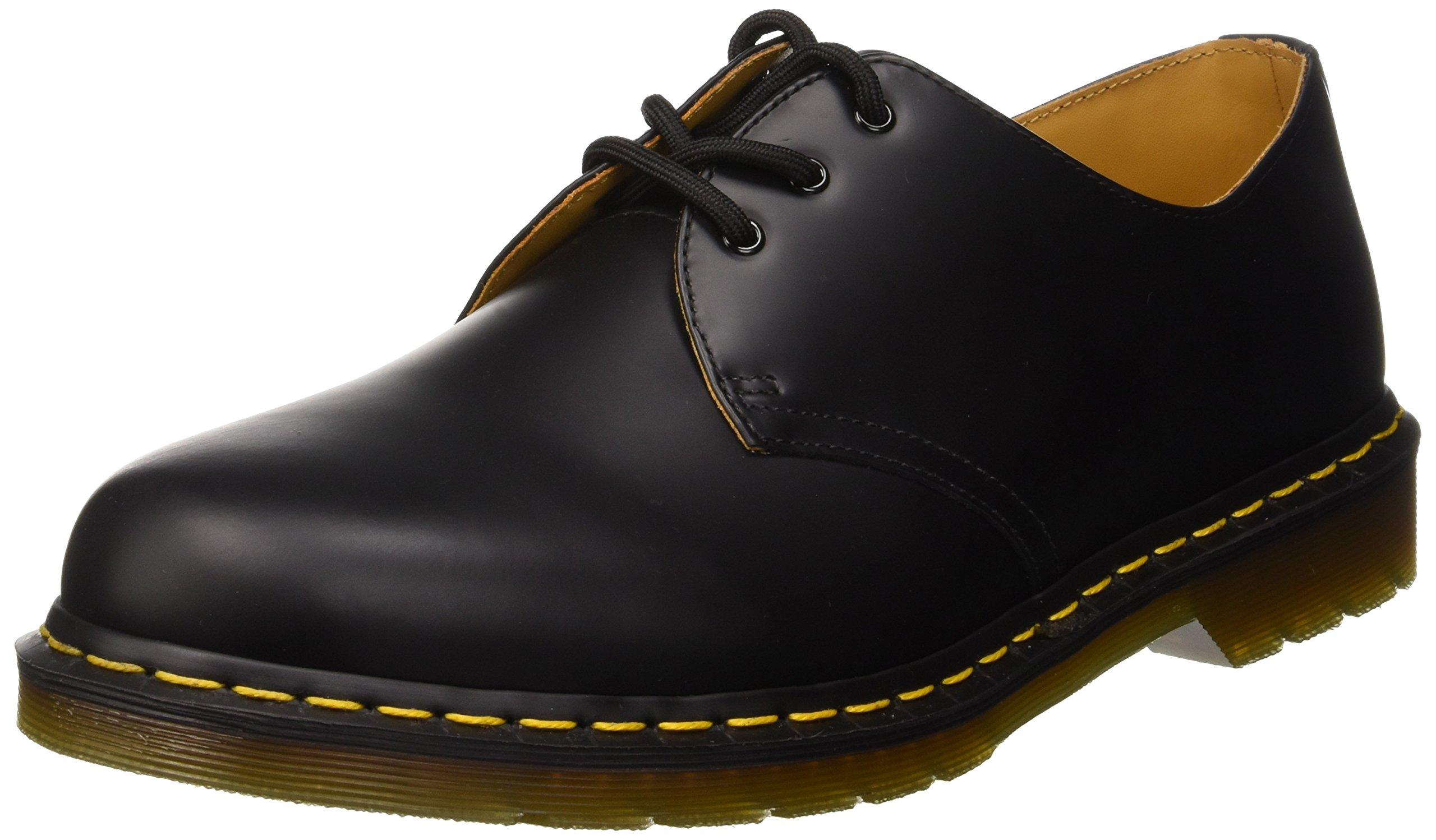 Dr. Martens Men's 1461 3 Eye Boot Shoe,Black Nappa,13 UK/14 M US