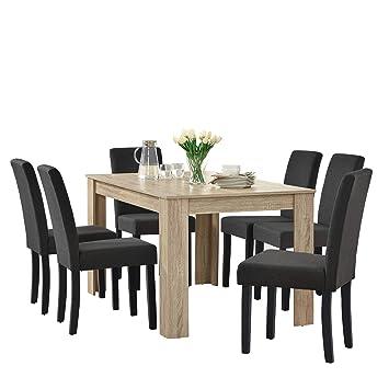 En Casa Table De Salle A Manger Noble En Design Chene Ceruse 6