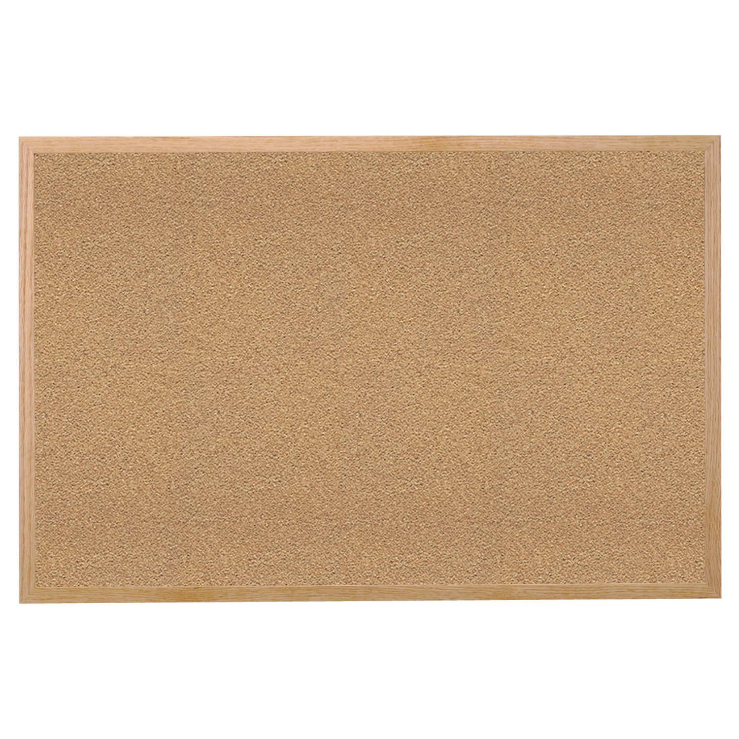 Ghent 48.5'' x 60.5'' Wood Frame Natural Cork Bulletin Board, Made in the USA by Ghent