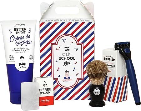 Monsieur Barber - Estuche regalo para hombre, diseño de Barbe OLD SCHOOL: Amazon.es: Salud y cuidado personal