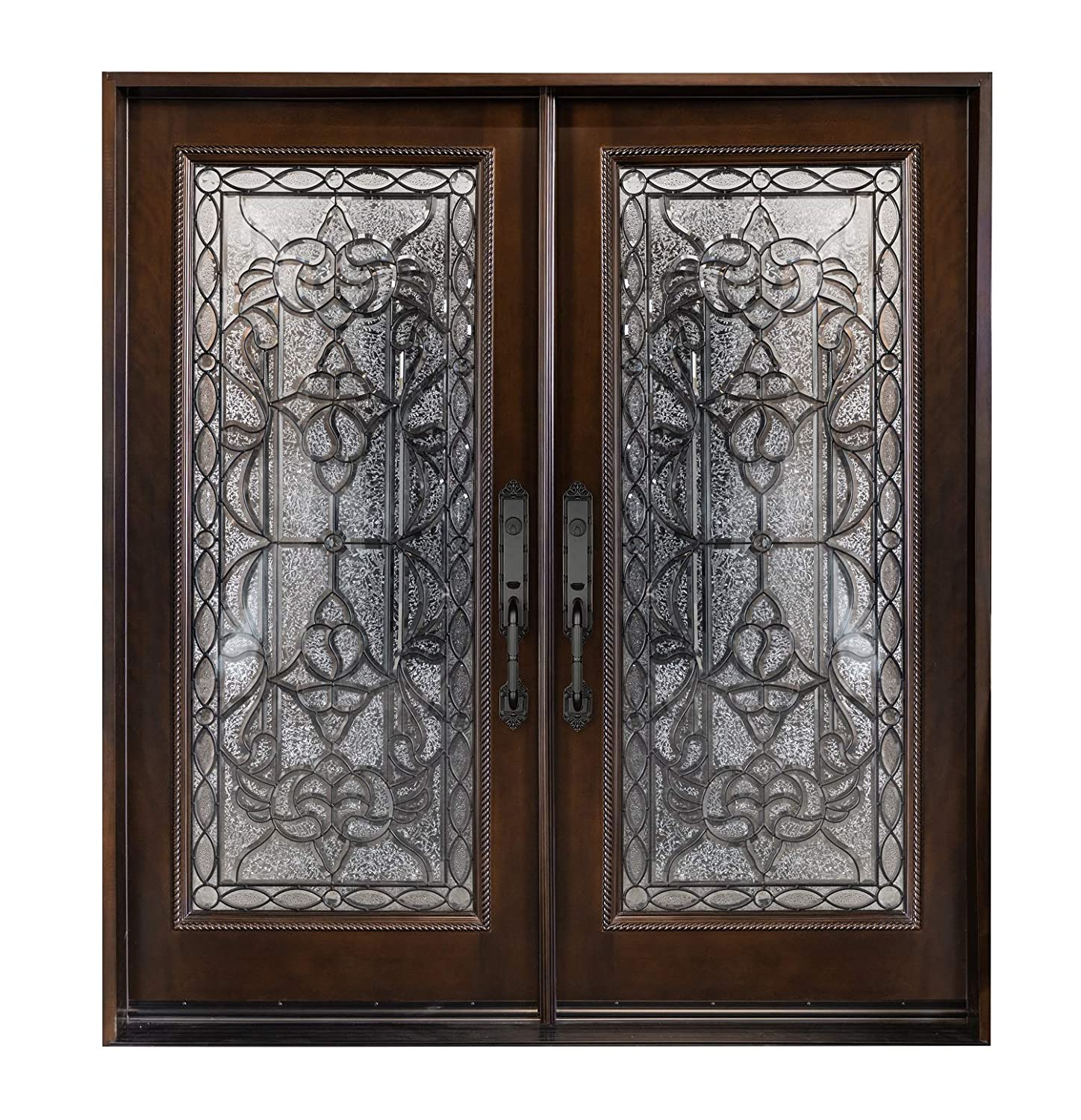 "M 577 30""X30""X80"" Wood Front Entry Double Door Left Hand Swingin"