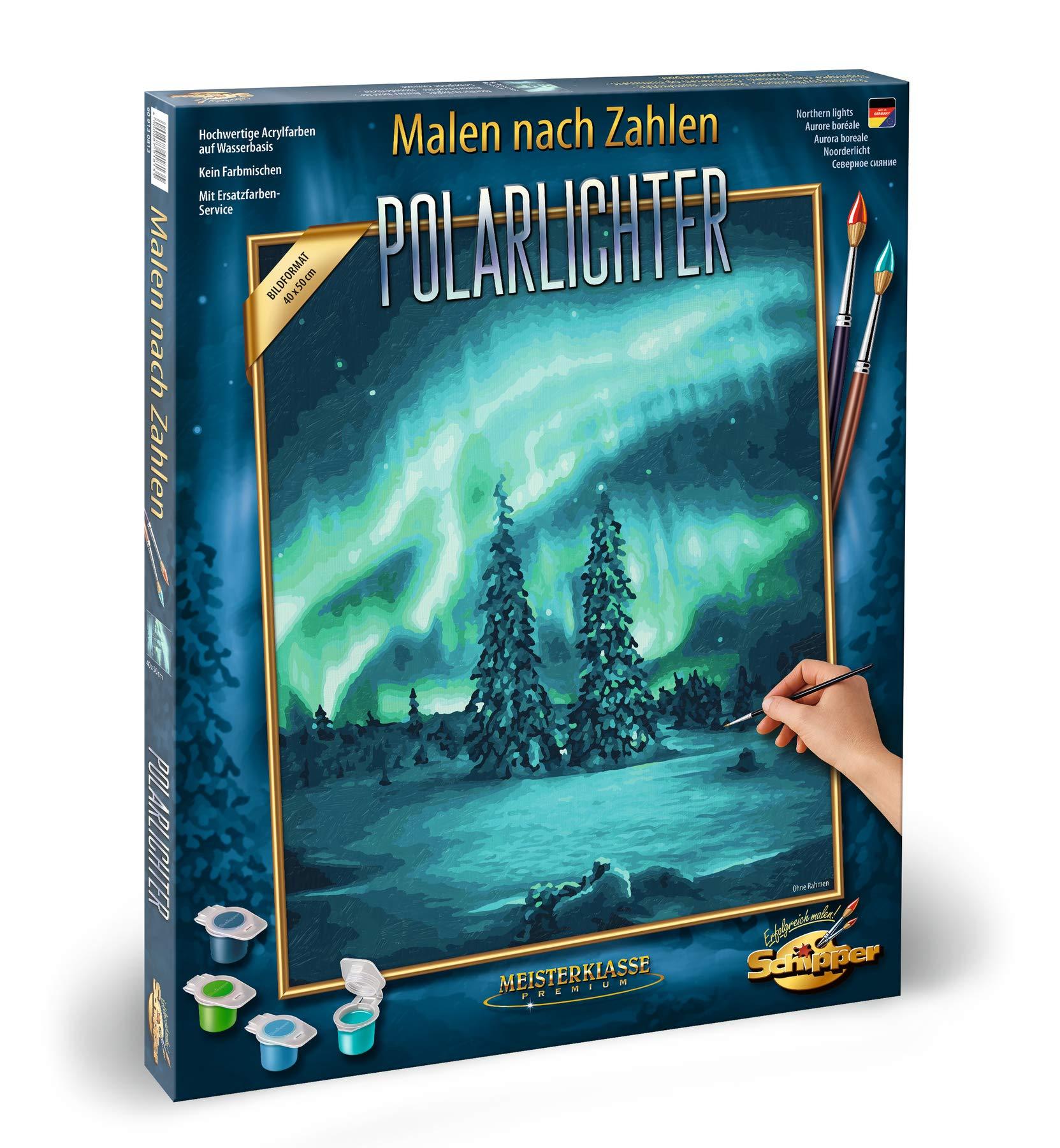 Schipper Paint by Number - Polar Lights 40 x 50 cm by Schipper