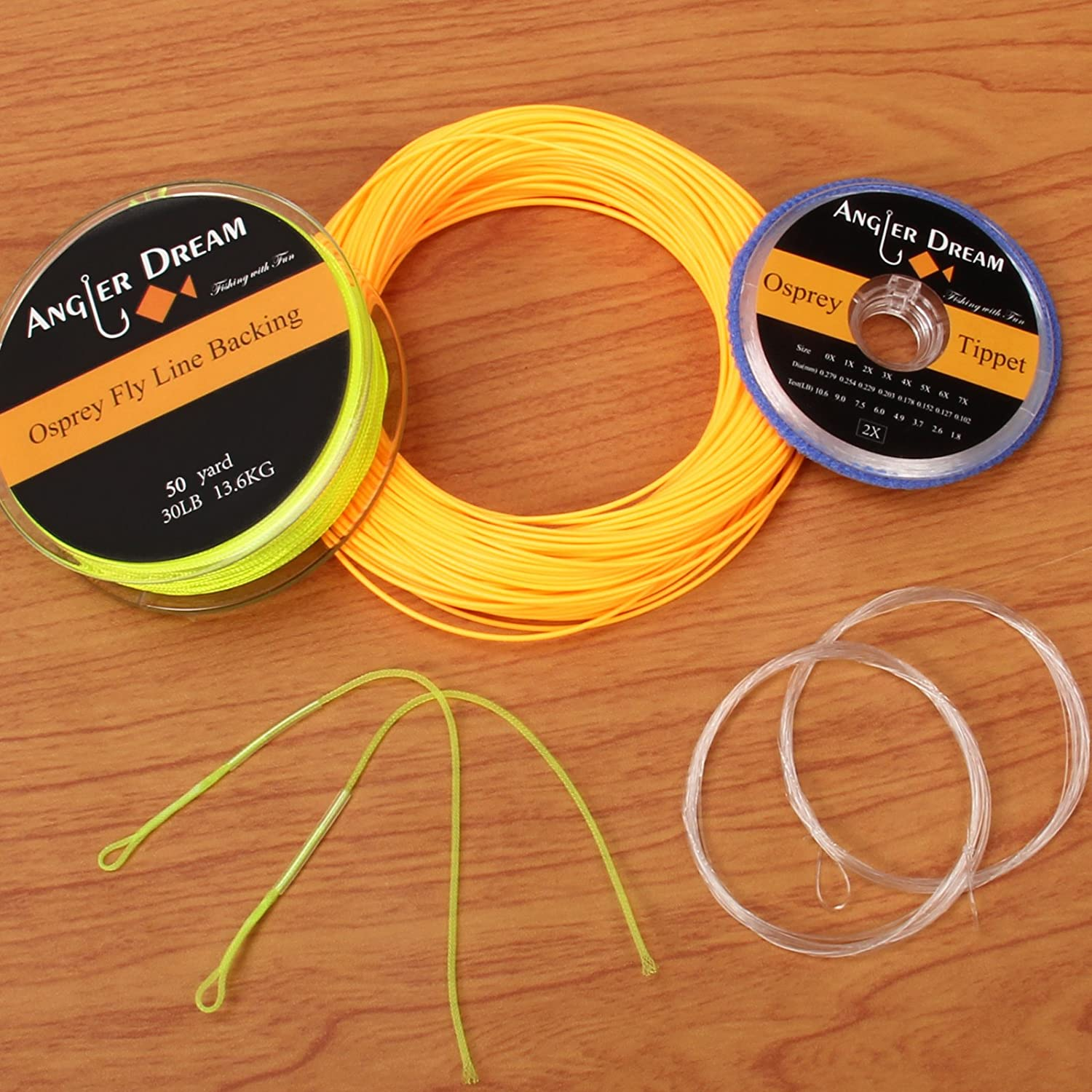 ANGLER DREAM AnglerDream WF Fly Fishing Line Kit 1 2 3 4 5 6 7 8 9WT Fly Fishing Line Leader Braided Backing Fish Line
