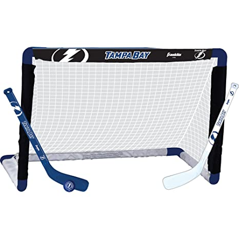 3ed3084dcc8 Franklin Sports NHL League Logo Tampa Bay Lightning Mini Hockey Set ...