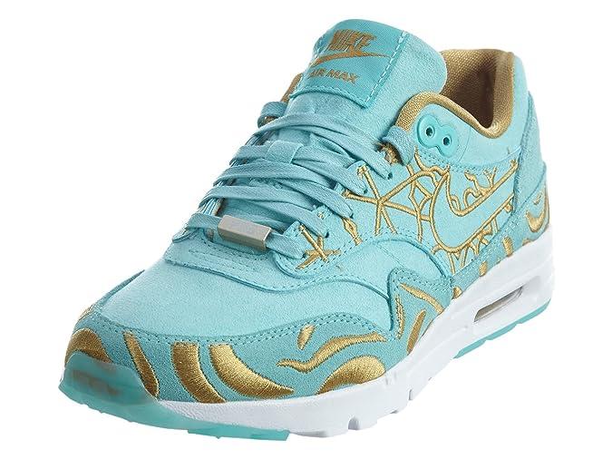 buy online 5ea13 7dc0e Amazon.com   Nike Women s Wmns Air Max 1 Ultra LOTC QS, PARIS-ISLAND  GREEN ISLAND GREEN-FLT GOLD, 5 US   Fashion Sneakers