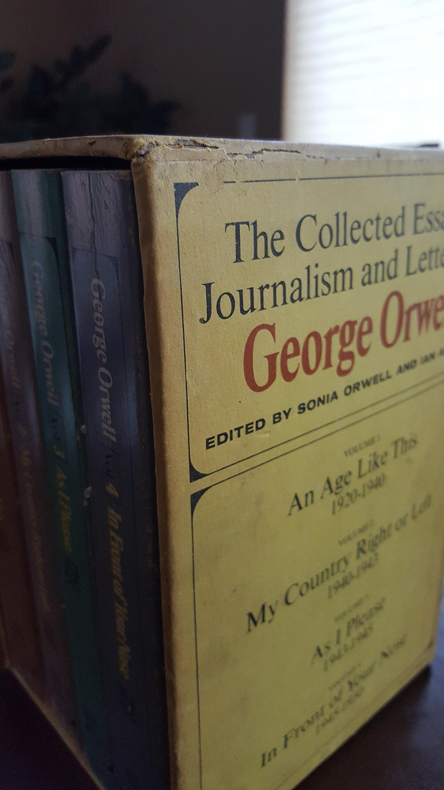 the collected essays journalism and letters of george orwell 4 the collected essays journalism and letters of george orwell 4 volume set george orwell sonia orwell ian angus com books