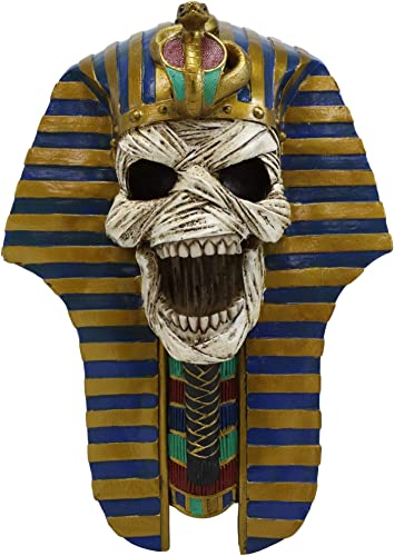 Ebros The Screaming Mummy Golden Cobra And Vulture Mask of Pharaoh Egyptian King Tut Bust Wall Accent Decor Statue 11.5″Tall Classical Ancient Egypt Gods And Goddesses Hanging Plaque Figurine