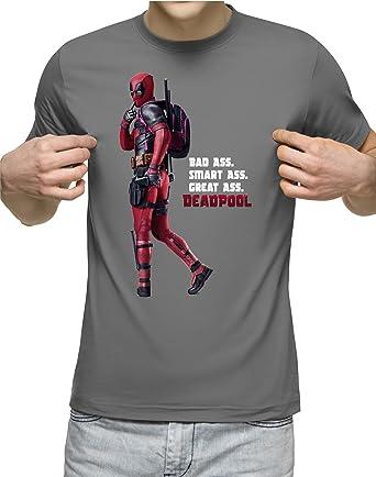 Corruptclothing Bad Ass Smart Ass Great Ass Deadpool T Shirt Grey