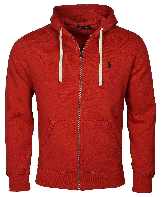 Xl Lauren Sweatshirt Red Holiday Classic Ralph Polo Zip Hooded Full Fleece kOPZuXi