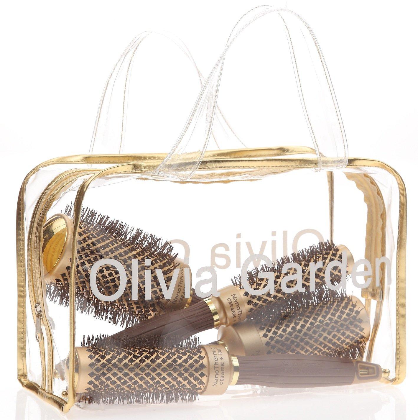 Olivia Garden NanoThermic Ceramic + Ion Round Thermal Hair Brush (3-Piece Deal)
