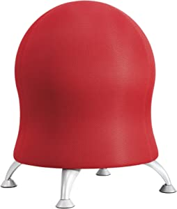 Safco Products 4750CL Zenergy Ball Chair, Crimson, Low Profile, Active Seating