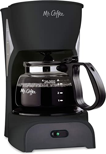 Mr. Coffee Simple Brew Coffee Maker 4 Cup Coffee Machine Drip Coffee Maker