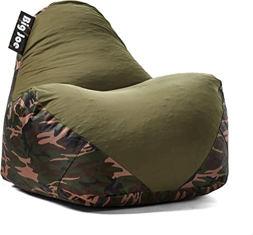Big Joe Warp Bean Bag, Camo Green