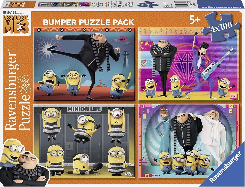 Ravensburger Minions Puzzle 4 x 100 Piezas Bumper Pack, GRU, Mi Villano Favorito (6892): Amazon.es: Juguetes y juegos