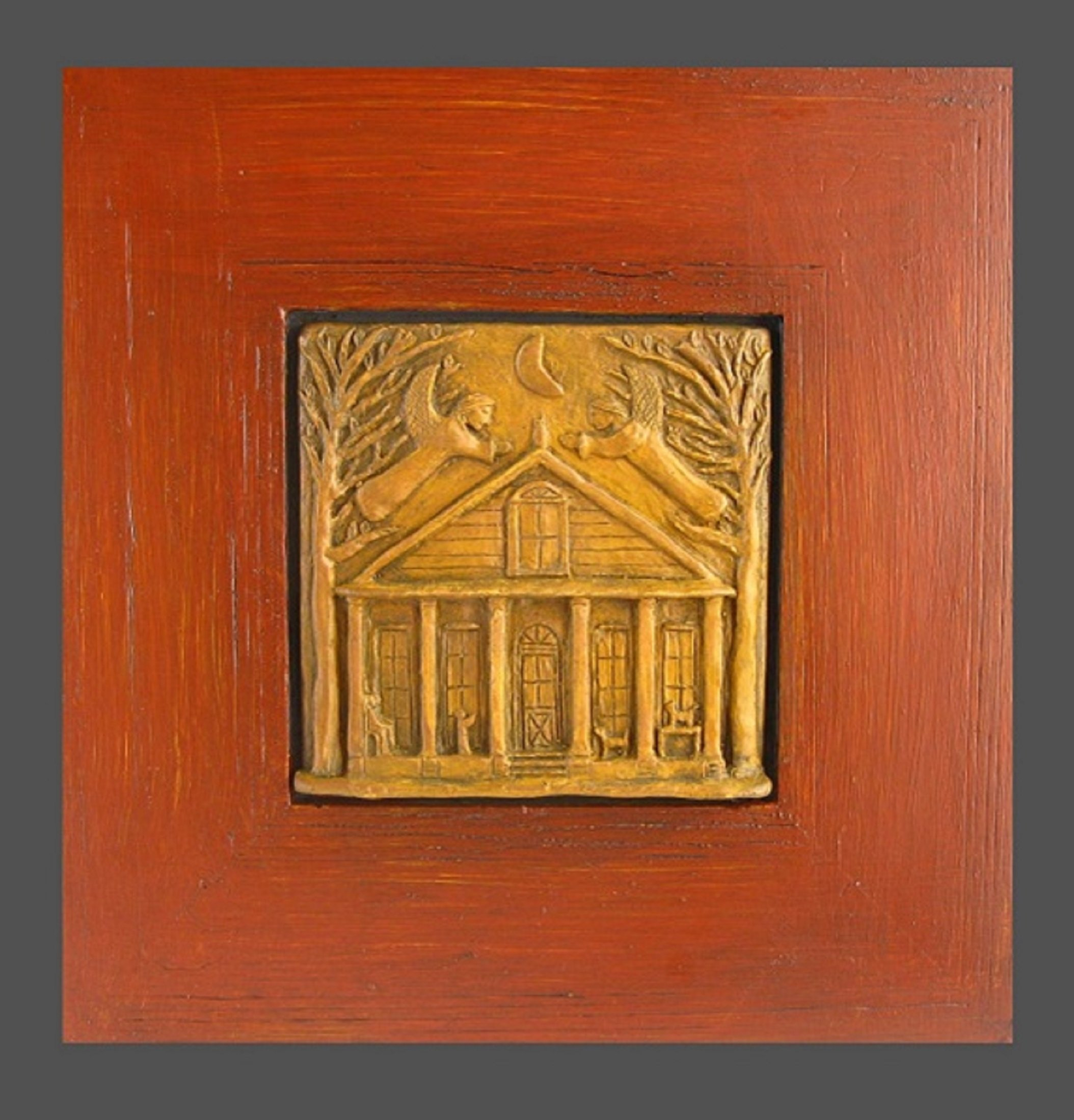 Handmade House-Blessing/Warming Tableau with Two Guardian Angels