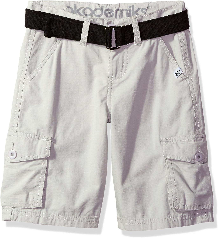 Akademiks Boys Rip Stop Cargo Short W//Belt
