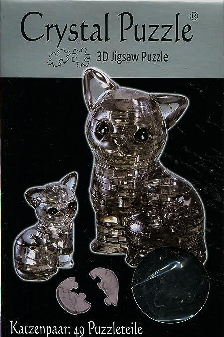 3d Crystal Puzzle-Katzenpaar 49 pièces