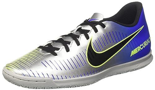 Nike Mercurialx Vortex III IC, Botas de Fútbol para Hombre, Negro (Black/Black), 45 EU