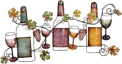 Amazon Com Deco 79 63546 Traditional Wine And Grapevine Iron Wall Decor 19 X 36 Home Kitchen