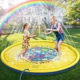 سجادة اللعب بالرش والرذاذ بالماء 177.8 سم، وسادة مرشة متينة قابلة للنفخ ومضادة للرش على حوض السباحة، ألعاب رش أساسية صيفية للأطفال والأنشطة العائلية في الحدائق الخارجية، سمك 0.25 مم.