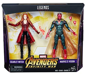 Marvel Hasbro Legends Toys R Us Exclusive Avengers Infinity War 2-Pack Vision and Scarlet