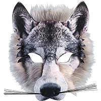 Adultes Enfants Réaliste Fausse Fourrure Wolf Masque Visage Paquet Animal Jungle Loup-garou Déguisement Fantaisie Robe Masque Visage