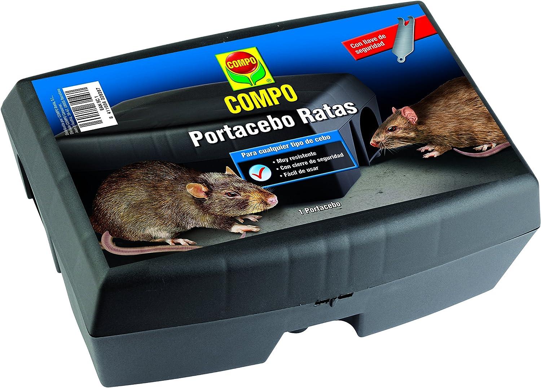 Compo Repelente Barrera Caja portacebos para Ratas, para Colocar cebos para roedores, Plástico, Negro, 12 x 17 x 23.5 cm