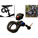 WINTECH Cable Key Lock for Bike Cycle Helmet Luggage (Black)