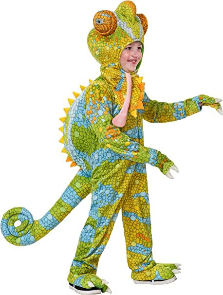 Amazon Com Toddler S Realistic Chameleon Costume Clothing